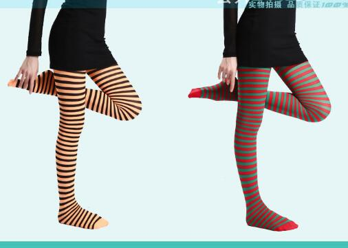 50PCS FEDEX 2018 New Arrival Women Girl Gothic Punk Sexy Horizontal Stripe Pantyhose Stockings Tights sexy rhinestone mesh fishnet pantyhose women bling tights slim pantyhose in a grid stockings plus size party club hosiery sw071