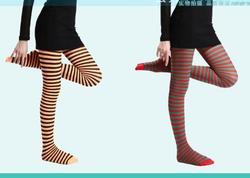 50PCS FEDEX 2019 New Arrival Women Girl Gothic Punk Sexy Horizontal Stripe Pantyhose Stockings Tights