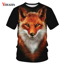 Men Women T-shirt 3D Animal Wolf Graphic T shirts Harajuku Short Sleeve Black Casual Tees O-Neck Unisex Summer Tops