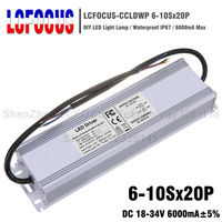 200W LED Driver 6 10Sx20P Lighting Transformers Power Supply Waterproof 6000mA 18 34V 6A For 120 140 160 180 200 W Watt COB Chip