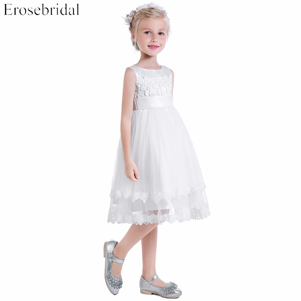 Cheap Price 2019 Wedding Girls Dresses Erosebridal Lace
