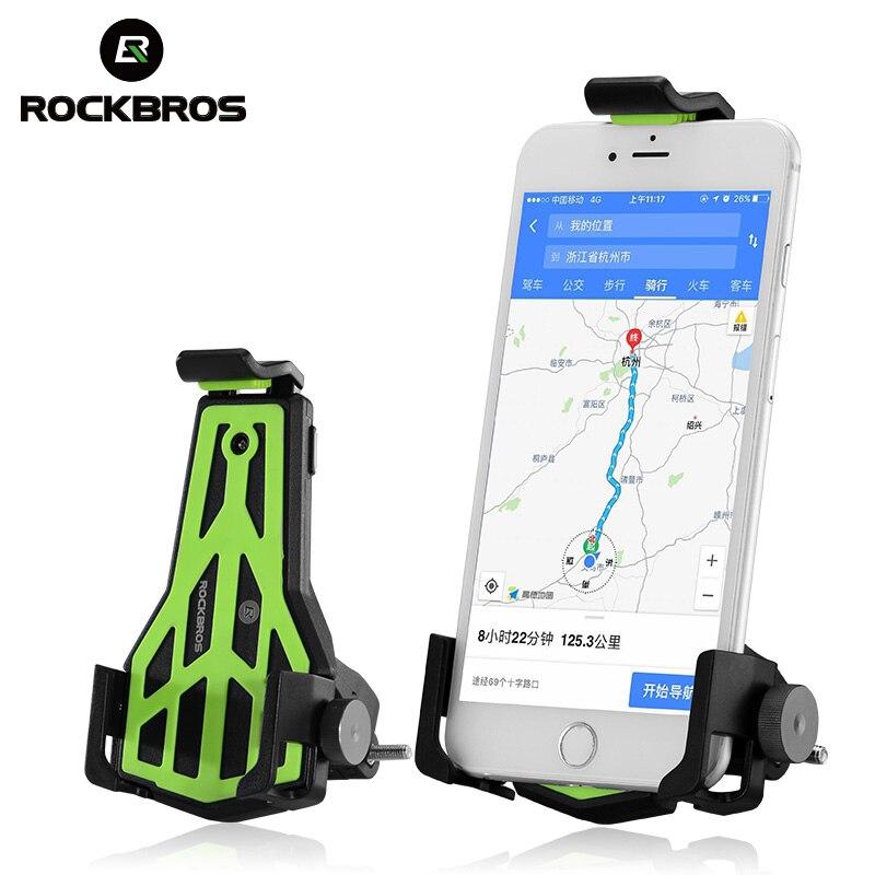 ROCKBROS Bike Bicycle Handlebar Phone Stand 3.5-7 Inch  Adjustable Cellphone MTB Holder Bracket Universal Cycling Accessories