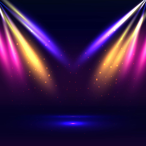 Colour Light Led Gold Blue Stage Theatre Party Scene