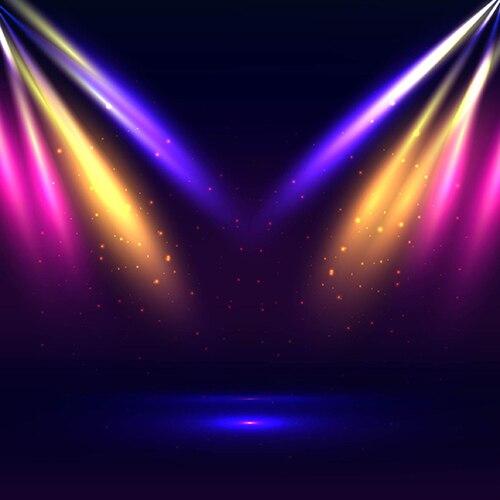 Colour Light Led Oro Blu Stage Theatre Scena Della Festa Sfondi