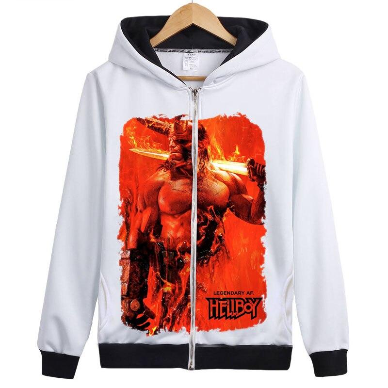 Hellboy sweat à capuche Hellboy lever du sang reine sweat à capuche sweat à capuche bande dessinée super-héros COOL sweat à capuche manteau veste d'extérieur