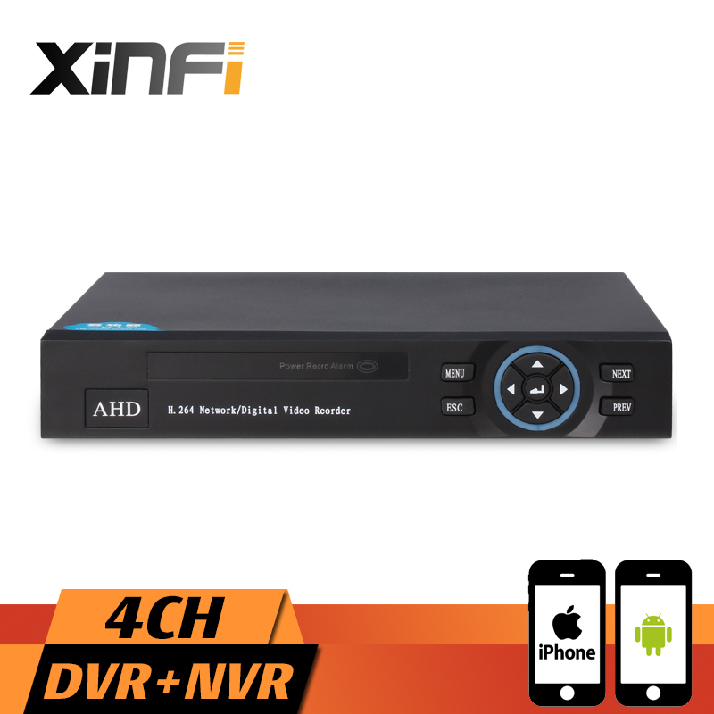 Xinfi CCTV 4CH HVR 1080P Recorder HDMI Output AHD DVR 4 channel HVR DVR NVR Support AHD-H, AHD-M, AHD-L Analog IP Camera ninivision ahd 4 channel 1080p hdmi 1080p 4ch hybrid ahd dvr hvr nvr onvif for security ip camera p2p function cctv dvr recorder