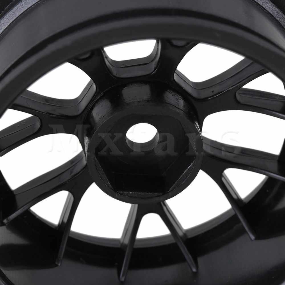 Mxfans RC 1:10 voiture sur route et dérive voiture plastique Y Type Mxfans roue jante entraînement Hex 12mm noir lot de 4