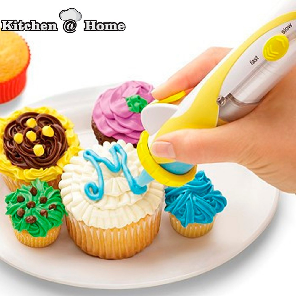 Electronic Decorative Pen Set Cake Decorating Cookies Dessert