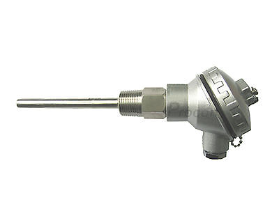 RTD PT100 Temperature Sensors 4 Probe with 1/2 NPT Threads & Terminal Head