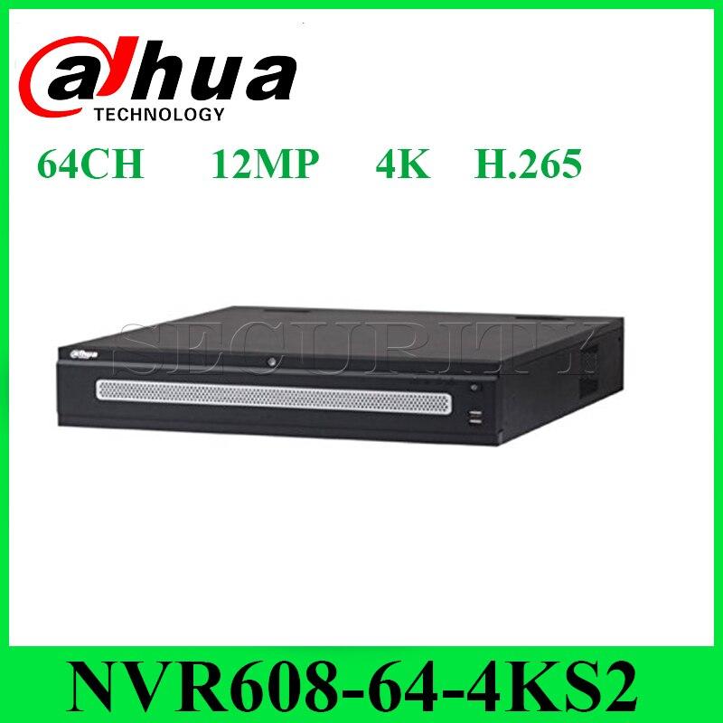 Dahua NVR608-64-4KS2 enregistreur vidéo réseau 64 canaux Ultra 4K H.265 jusqu'à 12MP avec 8 Interface SATA expédition Express