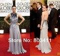 2014 , o 71st prémio globo de ouro Mila Kunis tapete Red Dress com Halter Backless cristal Beading vestidos de celebridades