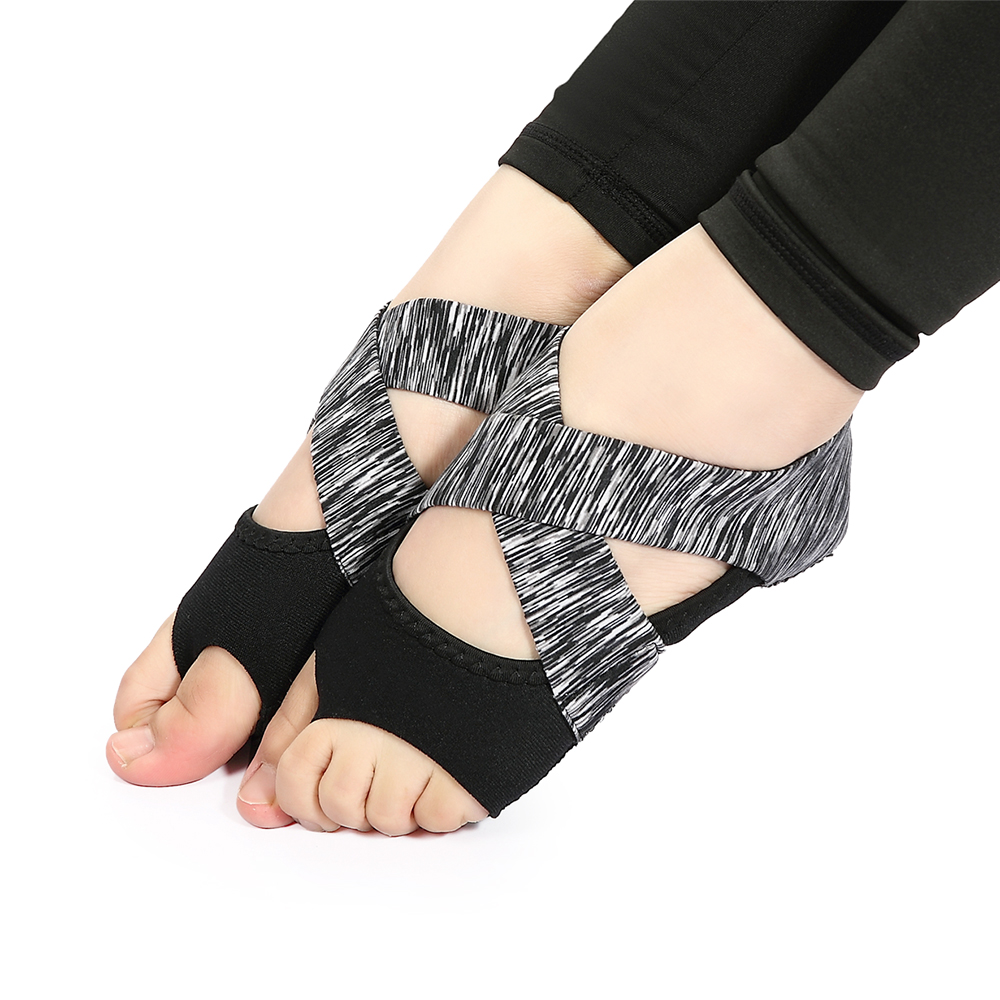 Frauen Nicht-slip Fitness Dance Pilates Socken Professionelle Innen Halb Zeh Yoga Schuhe Neopren Pilates Ballett Tanzen Socken Fitness & Bodybuilding