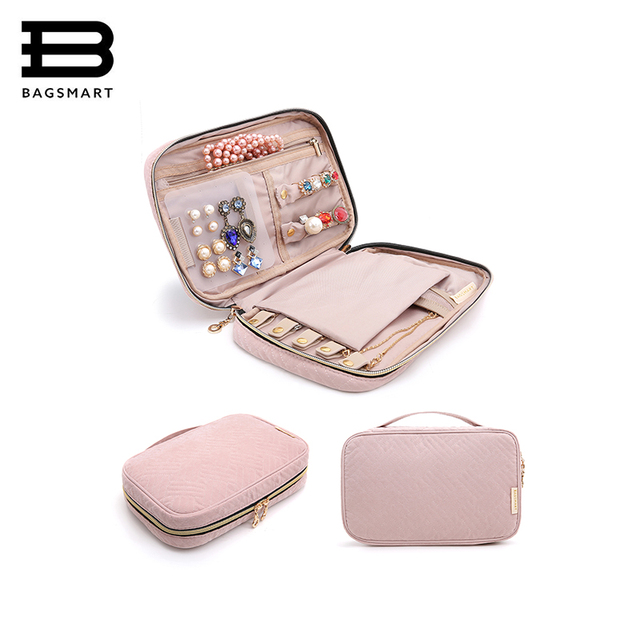 Bagsmart Women Travel Jewelry Organizer Case Female Cosmetics Bags Pouch Bag For Necklace Bracelet Earring