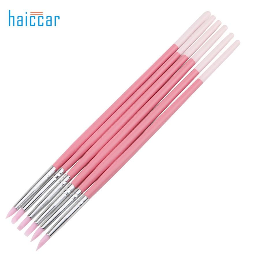 HAICAR 6Pcs Praktisk Pro Nail Art Penna Borstar Multifunktionella - Nagel konst