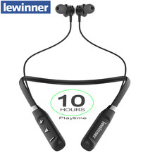 Lewinner J16 Bluetooth Earphone Built-in Mic Wireless Lightweight Neckband Sport Headphone earbuds stereo auriculares for phone(China)
