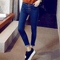 6 EXTRA LARGE Nova Calça Jeans versão Coreana Magro jeans skinny calças femininas calças casuais calças calças lápis calças de brim da mulher de cintura alta calças de brim
