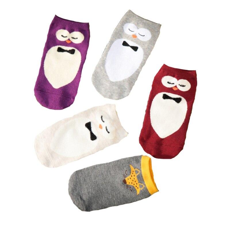 Korean style Cute Women Socks Cartoon 3D Print Socks meia Funny Cotton Socks Colorful Low Cut Ankle Socks Women calcetines