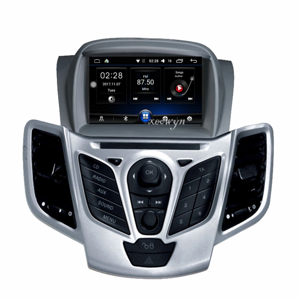 цена на Quad core Android 6.0 Car DVD For Fiesta 2009 2010 2011 2012 2013 2014 2015 2016 Auto Radio GPS Navigation Audio Video DAB+ WiFi