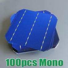 Hot Sale 100pcs 4.4 W 18% – 18.2% high efficiency 156 Mono monocrystalline Solar Cell 6×6 WY