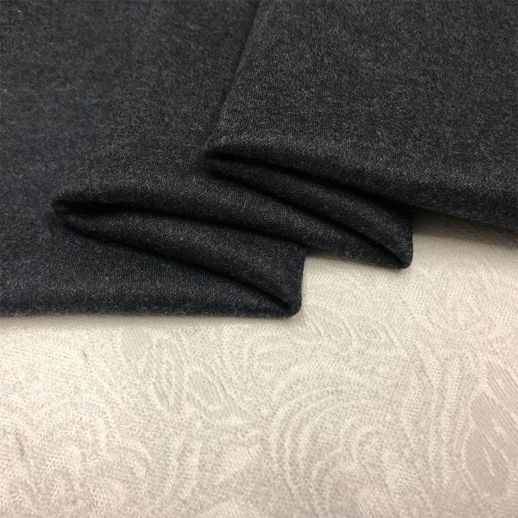 Italie élastique double face monochrome tricoté laine, cachemire et cachemire importé tissu cendres en automne et en hiver