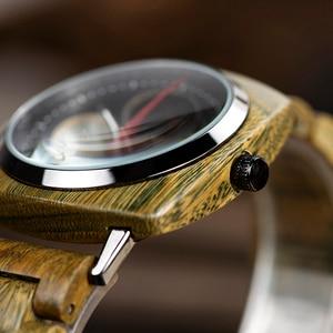 Image 3 - relogio masculino BOBO BIRD Men Watch Stylish Wooden Timepieces Mens Wrist Watches in Wood Gift Box erkek kol saati Accept LOGO