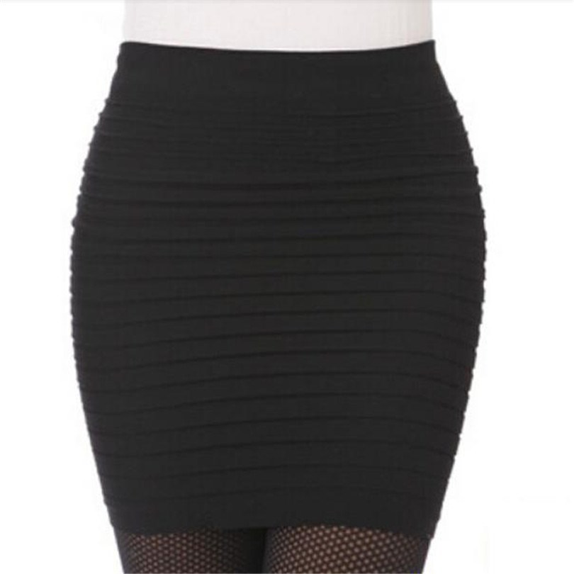 The Most Cheap New Color Fashion 2019 Summer Ladies Skirt High Waist Candy Color Plus Large Elastic Pleated Skirt A-Line Skirt