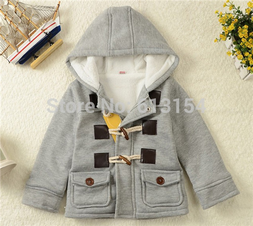 (A201)Baby Boys Winter Clothes New Kids Outerwear Coat Thick Clothes Children Clothing With Hooded 2 Color Hot Sale