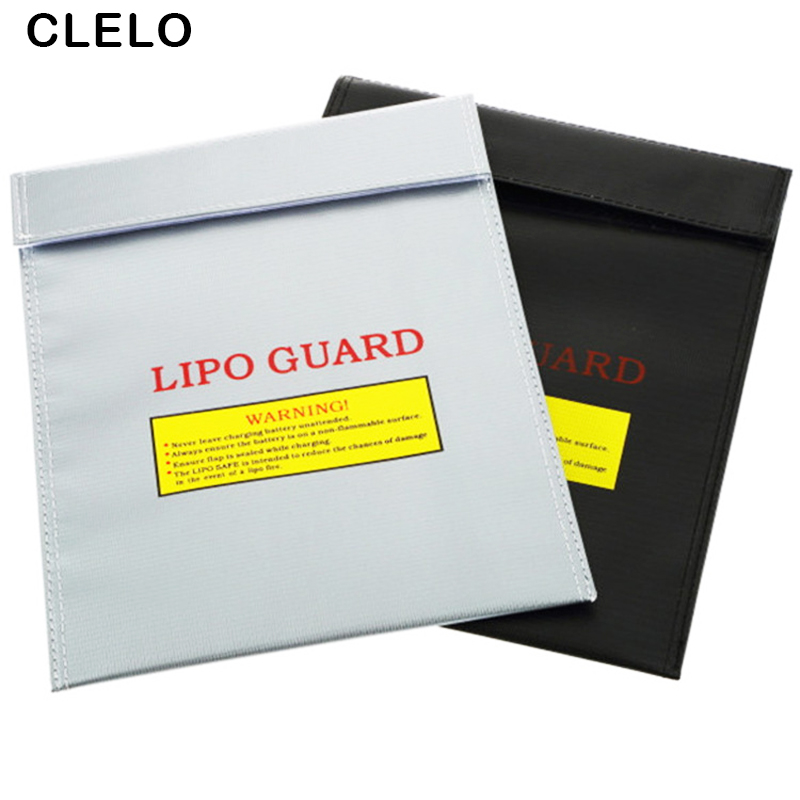 ClELO Fireproof RC LiPo Battery Safety Bag Small Size 23cm x 18cm Safe Guard Charge Sack Protection bags