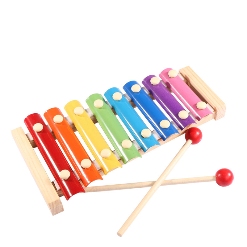 Wooden Marimba <font><b>Toys</b></font> Eight-tone Piano Musical Instrument <font><b>Toys</b></font> Children's Music Enlightenment Montessori Education Teaching Aids image