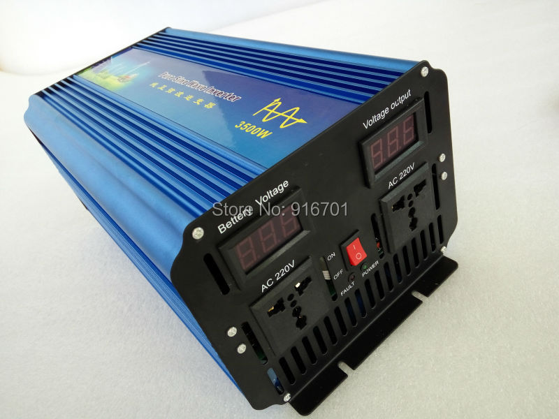 Free shipping Peak Power 7000W 3500W Pure Sine Wave Inverter with Digital Display