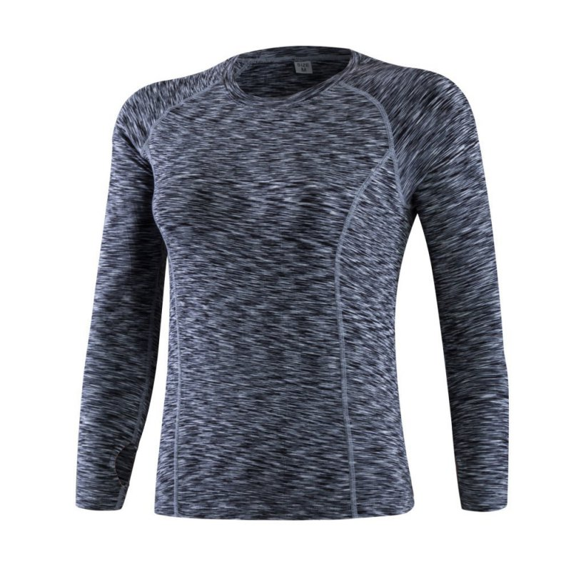 Autumn Women Fitness Running Sports Stretch T shirt Long Sleeve Quick Dry Tees Jogging Yoga Exercises Athletic Compression Tops