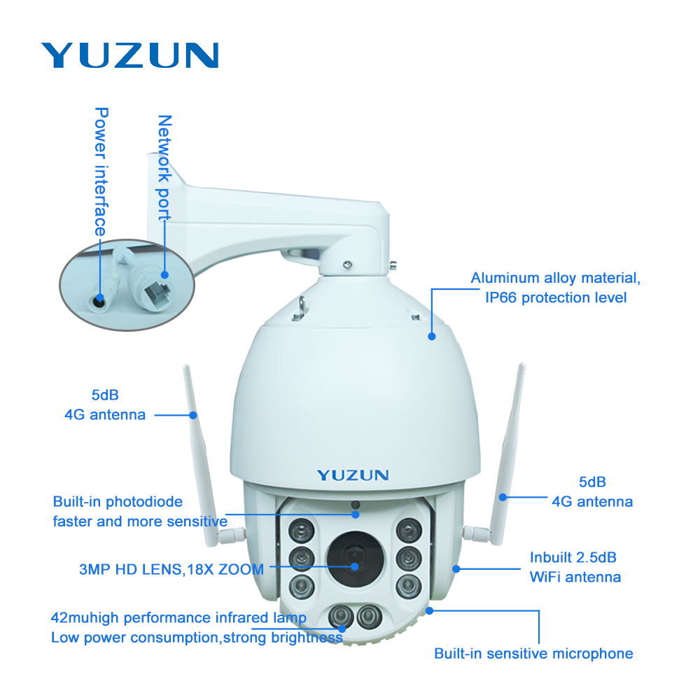 Купить с кэшбэком 3g 4g ip camera with sim card 360 degree outdoor security camera wireless surveillance camera plug and play in no internet place