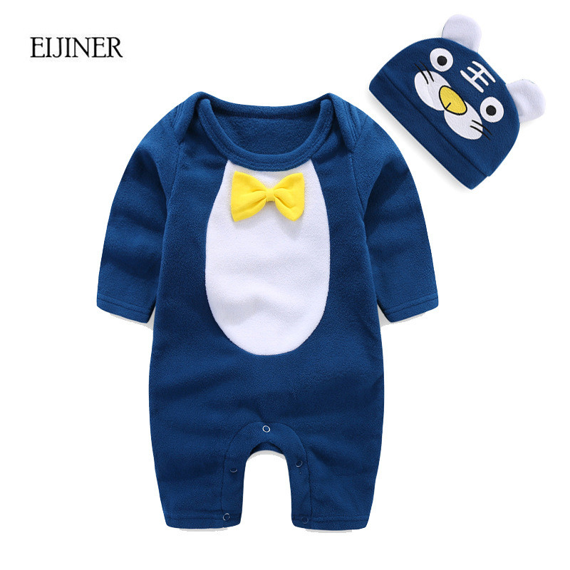 Newborn Baby Clothes Autumn Winter 2017 Fleece Infant Baby Rompers Boy and Girl Long Sleeve Winter Romper Overalls Baby Clothes newborn baby boy rompers autumn winter rabbit long sleeve boy clothes jumpsuits baby girl romper toddler overalls clothing