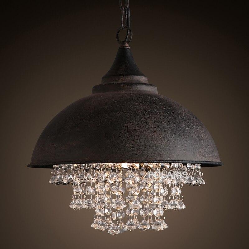 Lampe Vintage Loft Lustre Éclairage Moderne Cristal Pendentif Lumières Suspendues pour La Décoration De Restaurant D'hôtel
