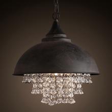 Vintage Lamp Loft Chandelier Lighting Modern Crystal Pendant Hanging Lights for Home Hotel Restaurant Decoration