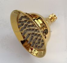 Luxury Gold Color Brass Round Rain Shower Head Rainfall Bathroom Top Sprayer Bsh009