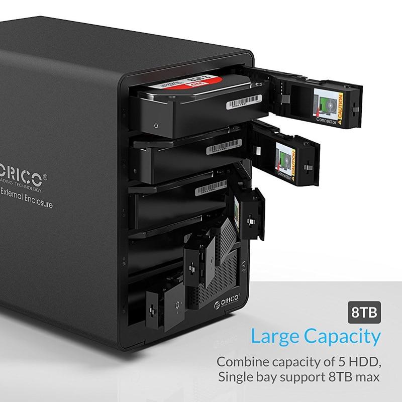 ORICO 9558U3 գործիք անվճար ալյումինե USB 3.0 5 - Արտաքին պահեստավորման սարքեր - Լուսանկար 3