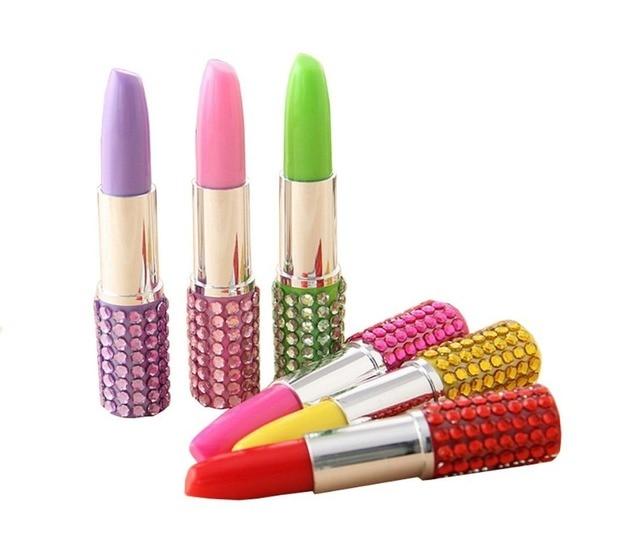 71a1aa1f00 US $4.58 |6pcs New Fangled Artificial diamond Rhinestone Shape Lipstick  Ballpoint Pen Gift Office Supplies Stationery Random Color-in Ballpoint  Pens ...