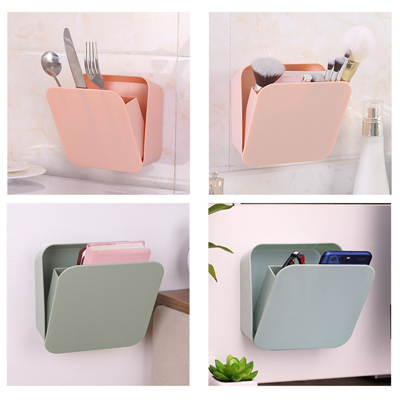 Storage Boxes Bathroom: Multifunctional Storage Box Home Seamless Paste Detachable