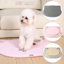 Pet Cool Pad Cat Head Shape Breathable Sponge Layer Sleeping Mat Nest Dog Summer Essential Cooling Foldable