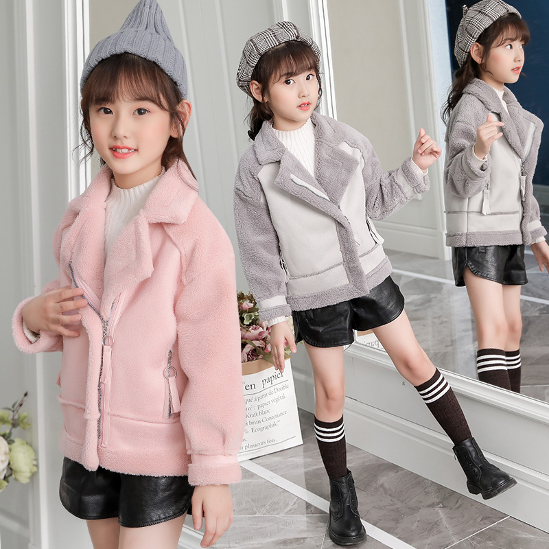 Image 4 - New   Girls Coats And Jackets  Suede Fleece  Kids Coats Fashion 4 10 Old Size  Autumn Winter 9GT018-in Jackets & Coats from Mother & Kids