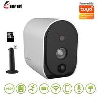 Tuya 960P HD wireless Battery Camera 2.4G WiFi Intercom Outdoor Waterproof Wireless IP Camera Home Security H.265 CCTV Camera
