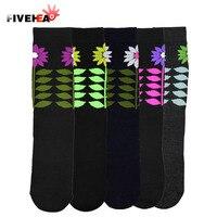 New Flower Pattern Black Socks male Thicken solid Color Men's Socks High Quality sport Winter Socks Dress socken towel bottom