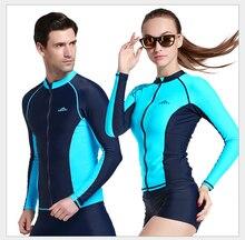 2016 SBART Hommes Plongée sous-marine Costumes Femmes Plongée Rash gardes Maillots De Bain Femelle Combinaisons Maillot De Bain Surf & Plage Tops Combi