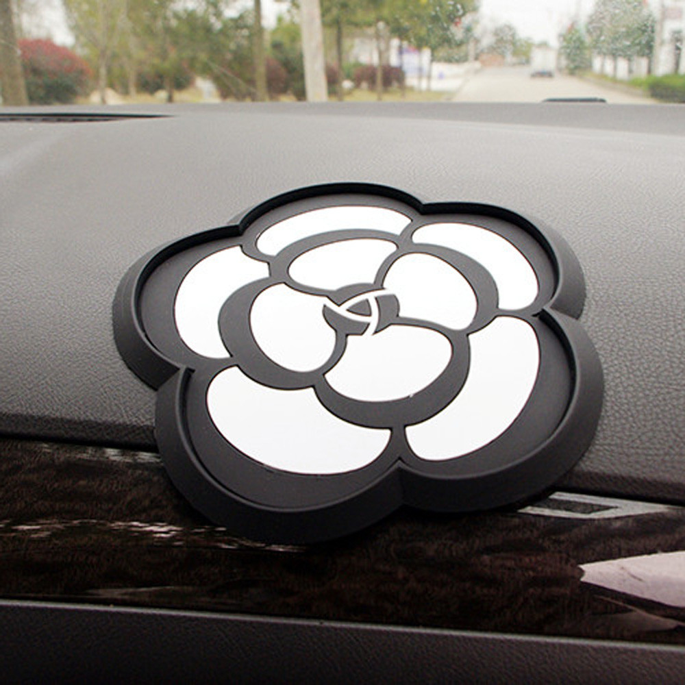 New Car Non-slip Camellia Mat Useful Mobile Phone Accessories Mount Stick Holder