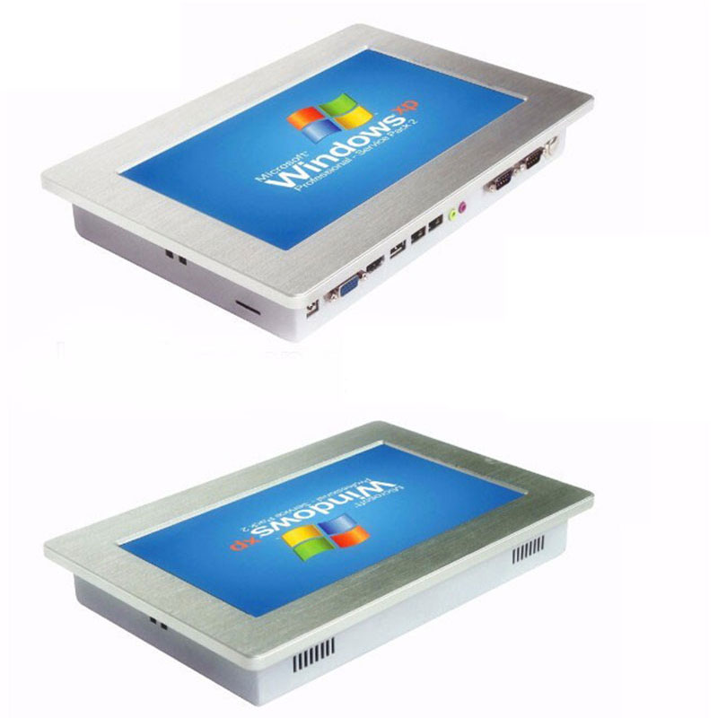 Low Price IP65 10.1 Inch LED Panel All In One Touch Screen PC Industrial LCD Display With 2 USB 2 RS232 Optional RS485 RS422