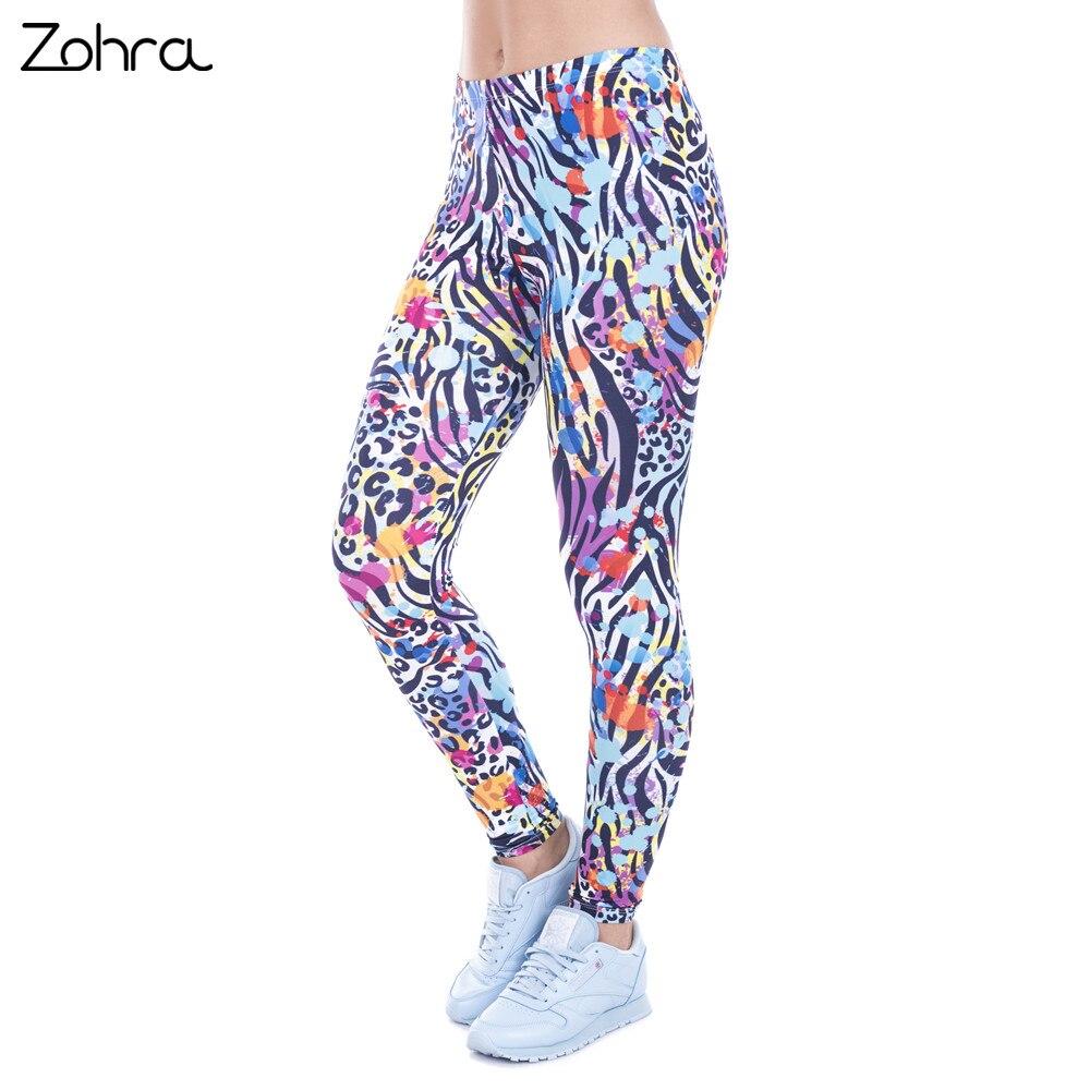 Zohra Women Legging Wild Dots Printed leggins for Women leggings High Waist Legins Woman Pants Stretch Leggings