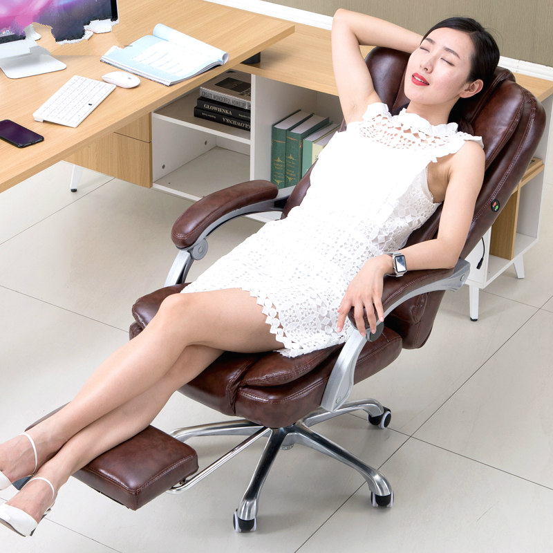 Fashionable comfortable home computer chair multifunction lift rotating massage chair with footrest lying healthy office chair s 240337 ergonomic chair quality pu wheel household office chair computer chair 3d thick cushion high breathable mesh