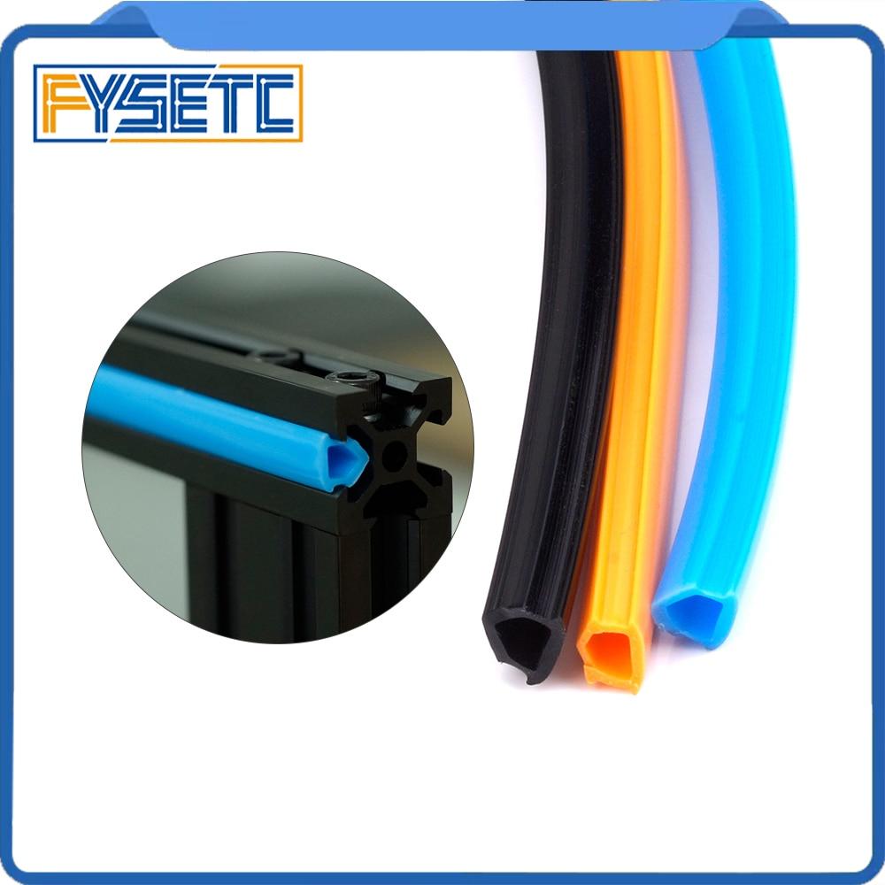 2Meters Black/Orange/Blue 6mm Flat Seal 2020 Aluminum Profile Slot Cover / Panel Holder For CNC Creality CR-10 Machine DIY Parts