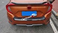 Внешний Задний бампер протектор Подоконник Накладка для Honda Civic 10th Gen 4dr Седан 2016 2018
